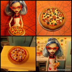 Ghoulia's Eyeball Pizza Tutorial ~ Fierce Ghouls