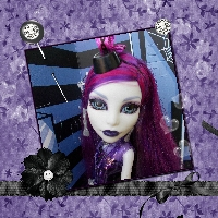 Monster High Printable Scrapbook ~Ghouls Night Out Spectra