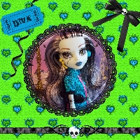 Monster High Printable Scrapbook ~ Scaris Frankie