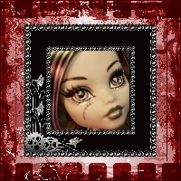 Monster High Printable Scrapbook ~ Black and White Frankie Stein