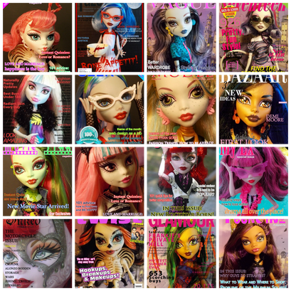 Monster High Printable Magazine Covers