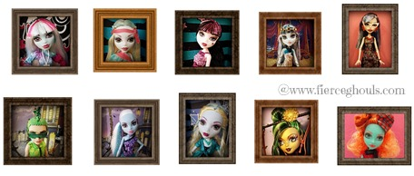 Printable Framed Monster High Doll Photos