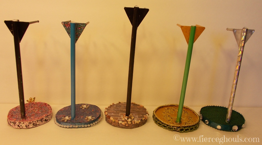 DIY Doll Stands Back View
